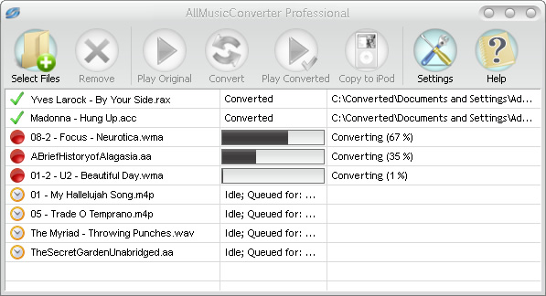 Convert ANY of your Audio files.