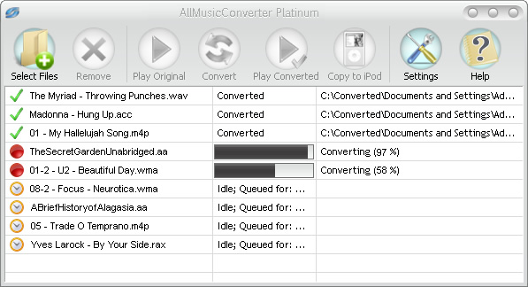 AllMusicConverter Platinum Screenshot